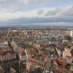 Vue de Strasbourg depuis le haut de la cathédrale