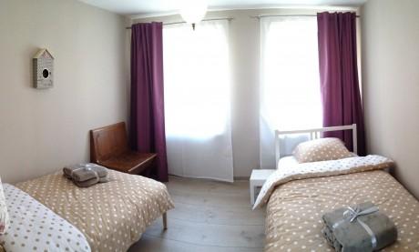 le59 gite la terrasse - chambre avec 2 lits simples 90x200cm