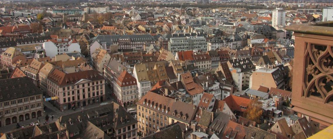 Strasbourg, vue depuis la plateforme de la Cathédrale