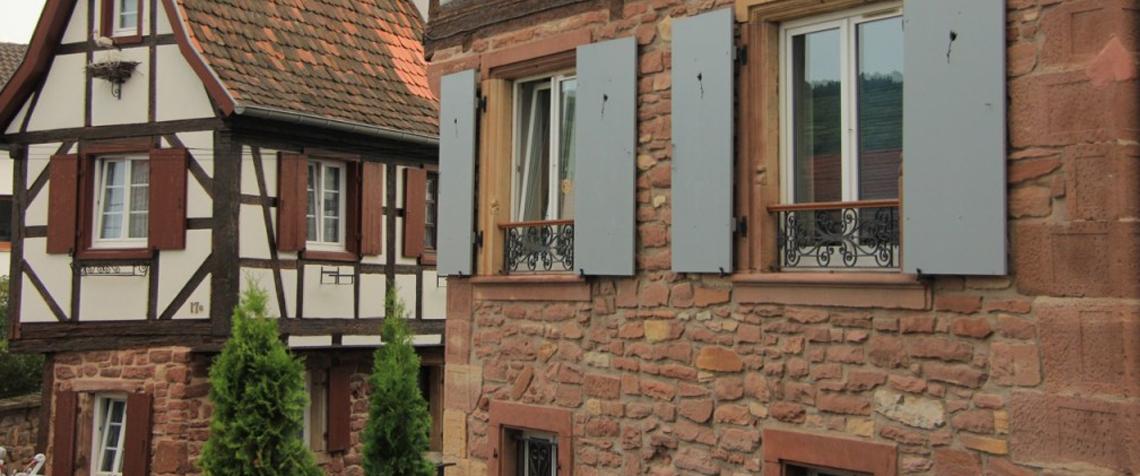 Wasselonne maisons à colombage dans la vieille ville
